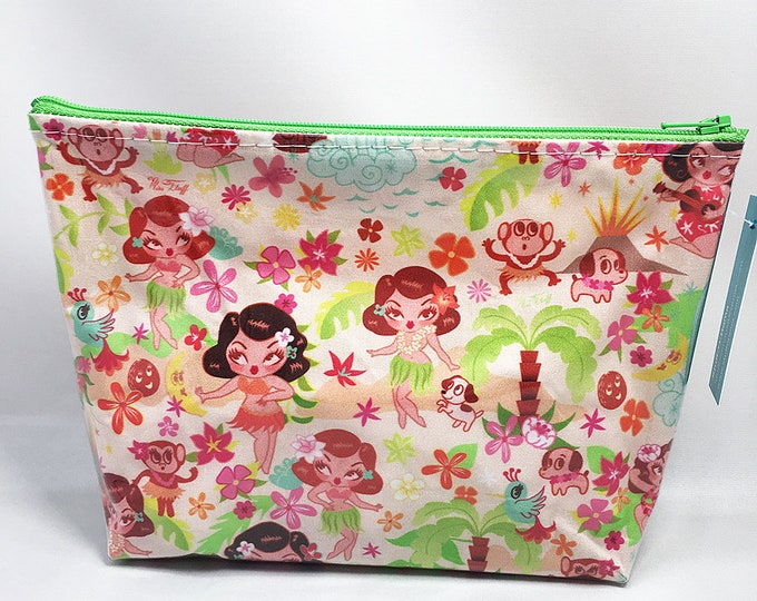 Make Up Bag - Miss Fluff Hula Cuties Zipper Pouch