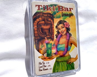 Playing Cards - Tiki Bar Lounge - Hula Girl