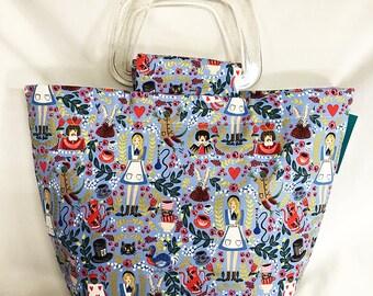 Handbag - Alice In Wonderland Blue