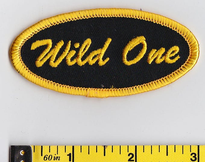 Iron On Patches - NAME TAG Wild One