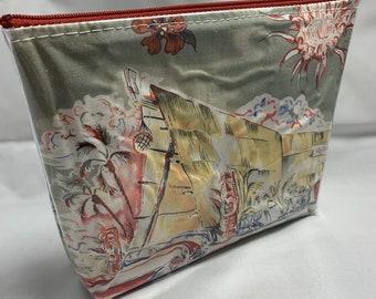 Classic Cars and Tiki Bars - Make Up Bag - Hawaiian Aloha Print