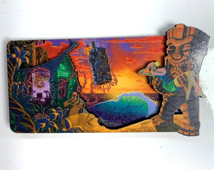 "Refrigerator Magnets - Forbidden Island by Brad ""Tiki Shark"" Parker"