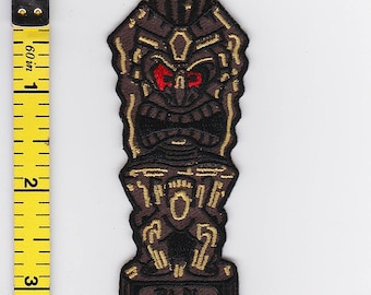 Iron On Patches - Red Eyed Tiki by Artist Dean Lee Norton