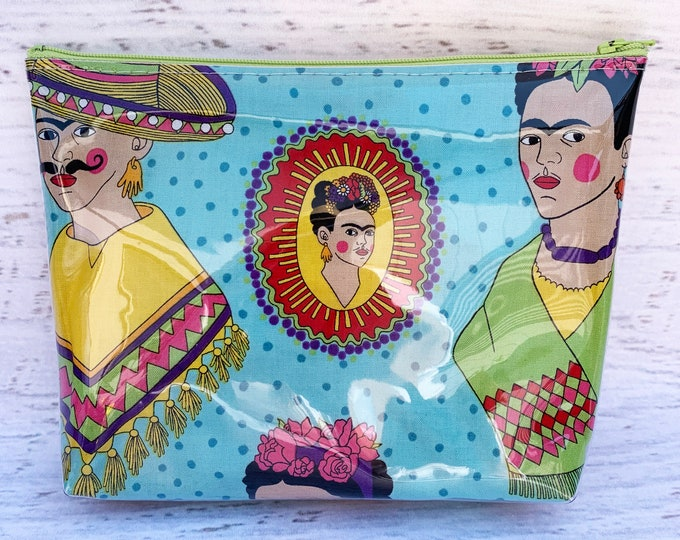 Frida - Blue - Make Up Bag