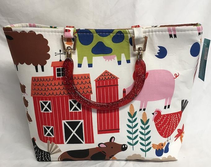 Handbag - Country Farm Animals
