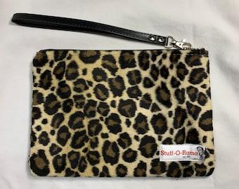 Leopard - Cheetah - Animal Print Faux Fur - Clutch Wallet Wristlet