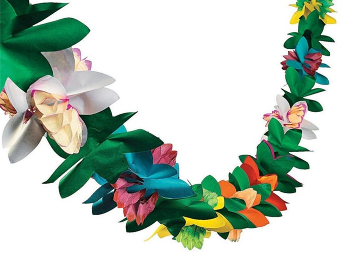 Paper Orchid Flower Garland - Perfect for Luaus - Summer Party - Tiki Bar