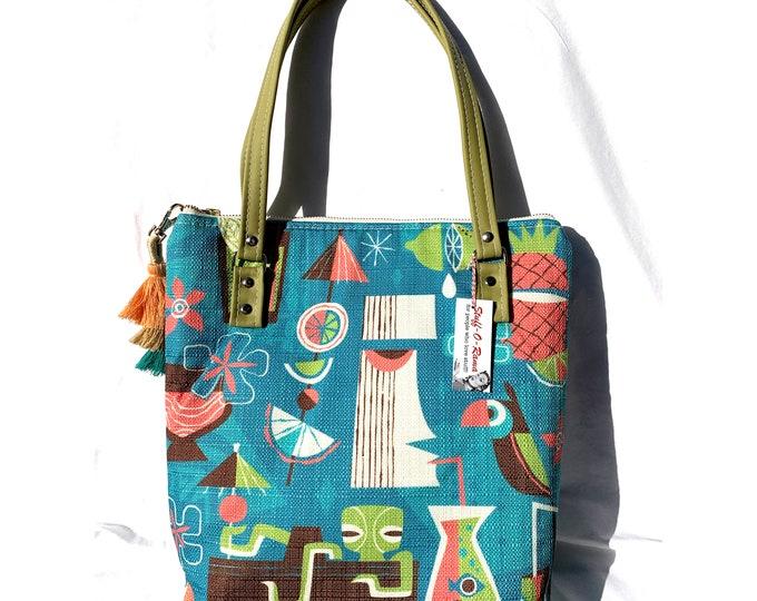 Jeff Granito - Mod Drinks - Vinyl Shoulder Bag - Handbag - Purse - Bag - Vegan Leather