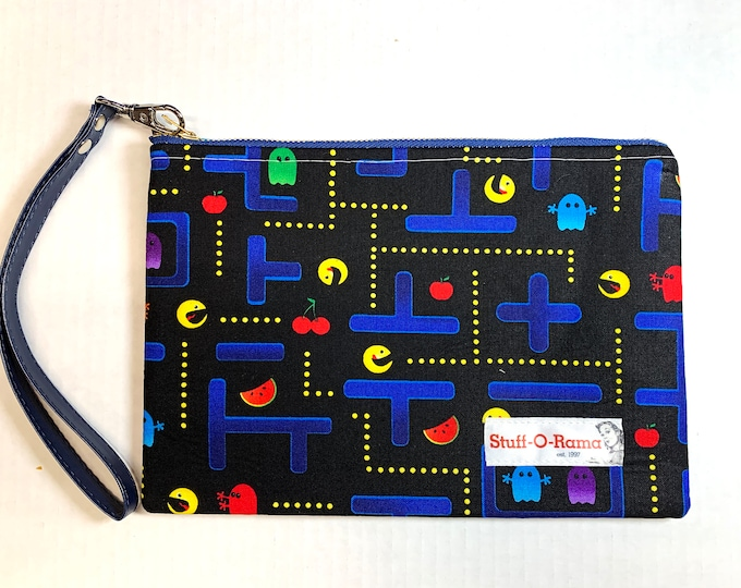 Wristlet Zipper Pouch Clutch Purse - Pacman