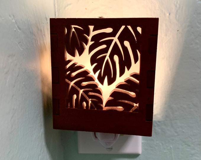 Night Light -  Bamboo Monstera Plant
