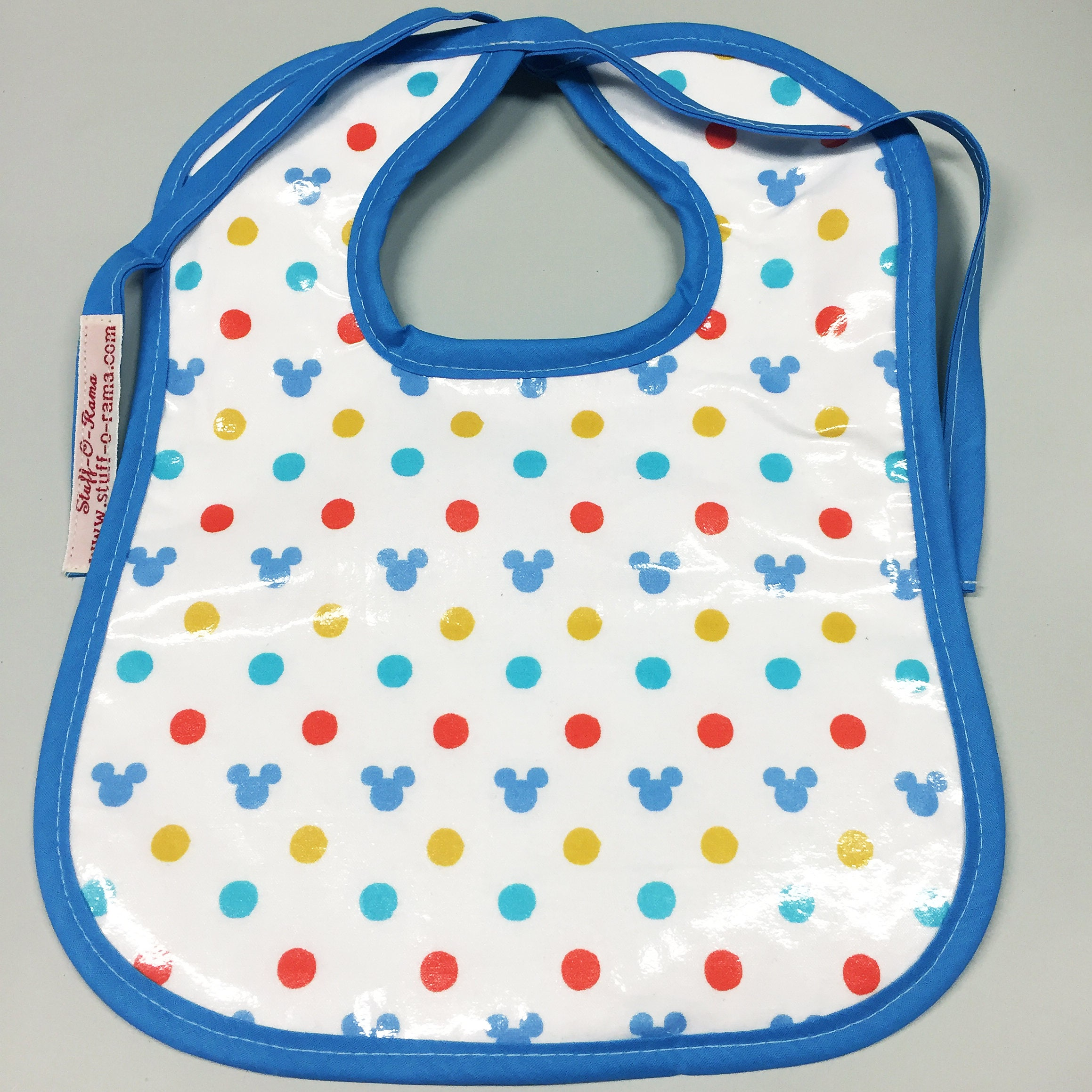 Wipeable Baby Bibs Hidden Mickey Polka Dots