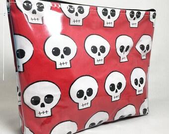 Red Skully - Skeleton - Skull - Halloween - Make Up Bag