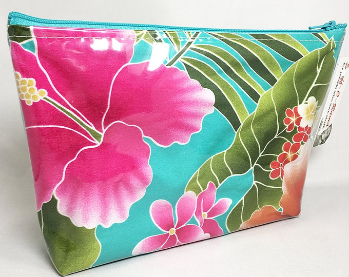 Make Up Bag - Mod Tiki Zipper Pouch
