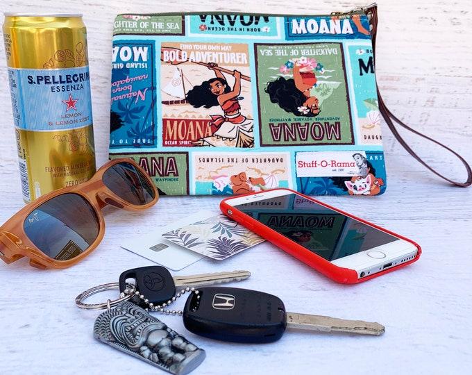 Moana Posters - Clutch Wallet Wristlet