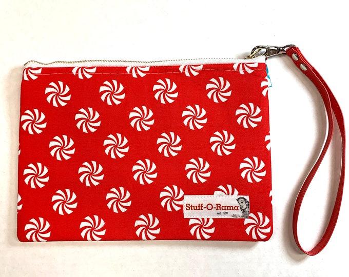 Peppermint Candy - Lollies - Clutch Wallet Wristlet