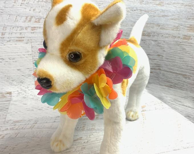 Plastic Hawaiian Leis for Pets - Luau - Tiki Bar - Tiki Oasis Pet Parade - Party - Costume