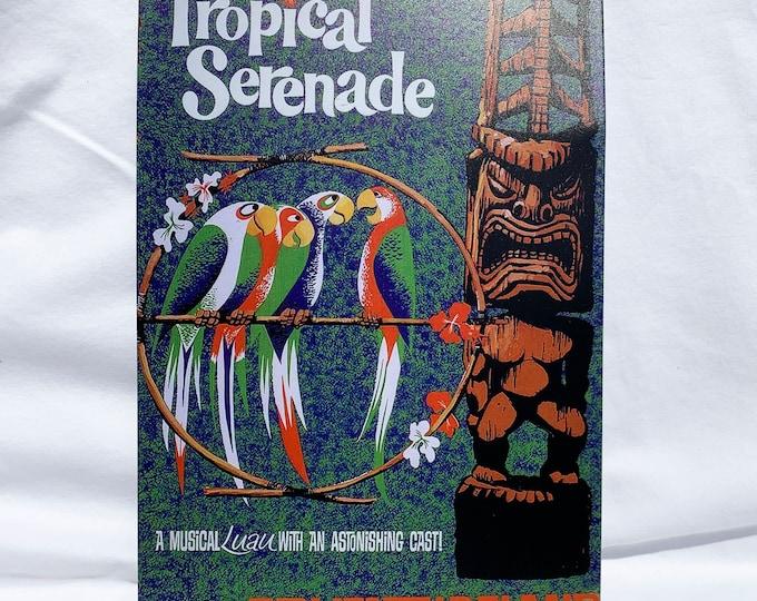 Tropical Serenade - Enchanted Tiki Room - Adventureland - Metal Sign