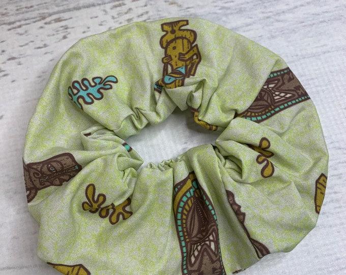 Tiki Tiki Tiki by Tiki Tony - Elastic Hair Tie - Fabric - Wide Width - Oversize - Scrunchie style - Disneybound - MCM - Retro - Vintage