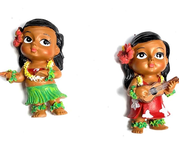 Refrigerator Magnets - Hula Girls
