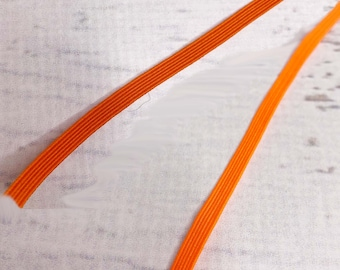33 Yard Bundle - Orange Braided Elastic - 1/4 Inch Wide - Perfect for Face Masks - Crafts - Swimsuits - Sewing Notion - Bulk - Wholesale