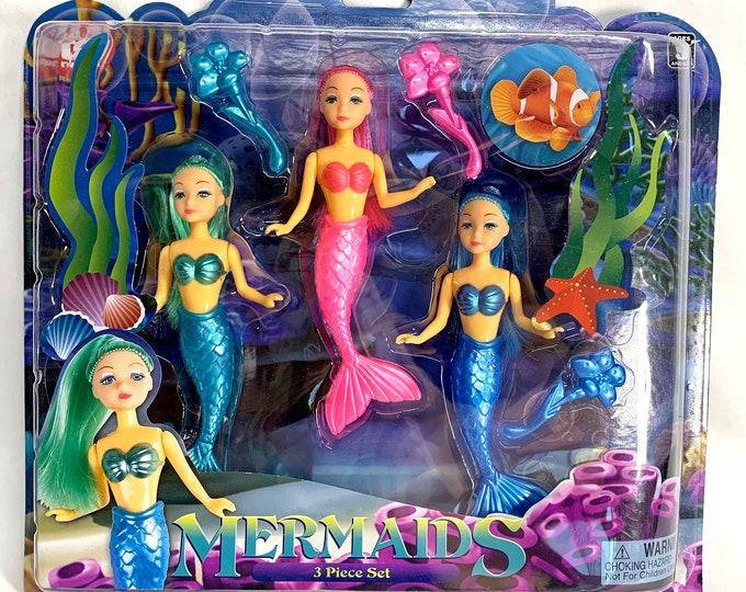 Mermaid Dolls Set Action Figures