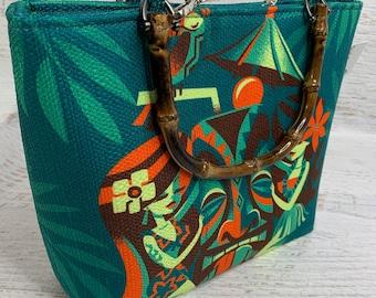MenageATiki - by Jeff Granito Designs - Tote Bag - Purse - Handbag - Crossbody Option