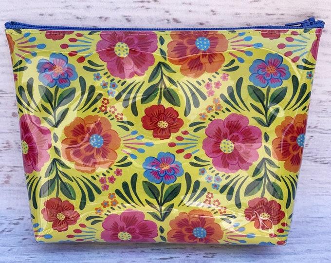 Las Flores de México - Yellow - Make Up Bag