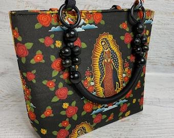 Our Lady Of Muertos - Tote Bag - Purse - shoulder Bag - Handbag - Canvas - Halloween - Day of the Dead - Dias de los Muertos