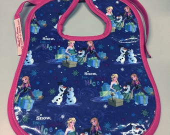 Wipeable Baby Bibs Gender Neutral Frozen Elsa Anna Olaf