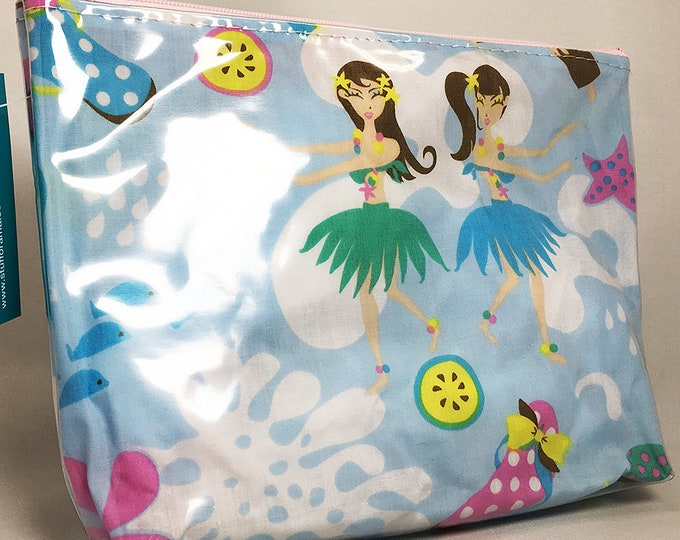 Make Up Bag - Hula Girls Zipper Pouch