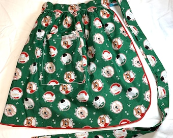 Rudolph and Friends Icons - Half Apron - Vintage Pin Up Skirt Style