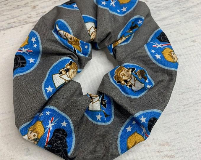 Kawaii Star Wars - Elastic Hair Tie - Fabric - Wide Width - Oversize - Scrunchie style - Disneybound