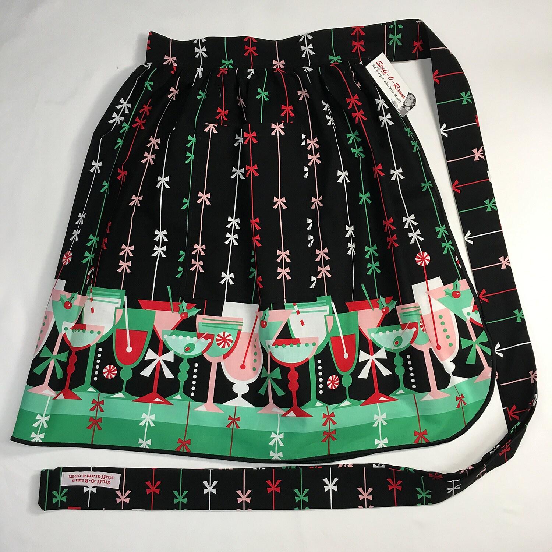 Half Apron - Vintage Pin Up Skirt Style - Christmas Holiday