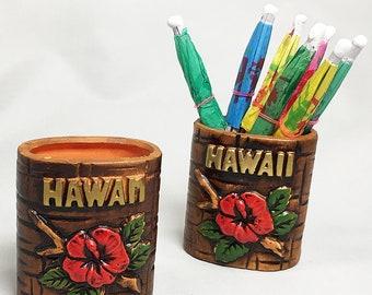Hawaii Hibiscus Toothpick Cocktail Umbrella Holder