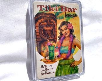 Playing Cards - Tiki Bar Lounge - Hula Girl