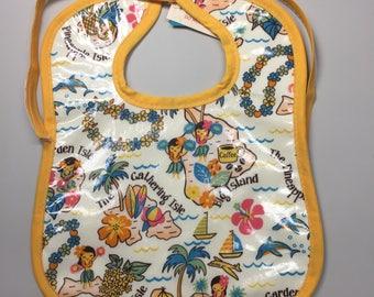 Wipeable Baby Bibs - Hawaiian Islands