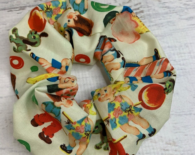 Retro Candy Kids - Elastic Hair Tie - Fabric - Wide Width - Oversize - Scrunchie style - Disneybound