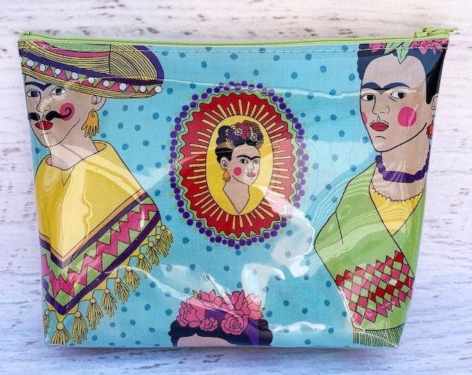Frida - Blue - Make Up Bag