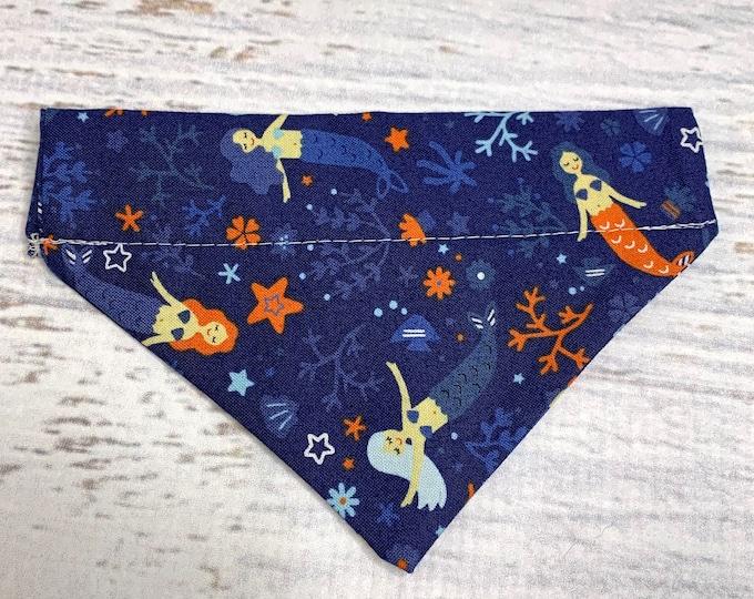 Mermaids Sirens - Dog Cat Pet Bandanna - Over the Collar - Tropical - Aloha Print - Sizes XS through XL - Dog Accessories - Neckwear