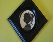Vintage. 60s Style. Diamond Frame. Black White Portrait.
