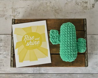 Hand Crochet Green Cactus Stuffed Toy Room Decor Gifts for Children Southwestern Succulent Plushies