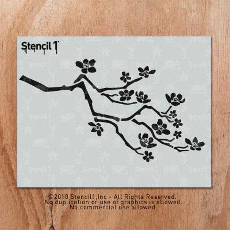 Stencil1 Cherry Blossom Stencil S1_01_126 image 0