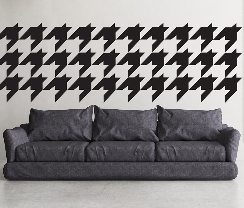 Large Houndstooth Repeat Pattern Wall Stencil Reusable Craft Etsy