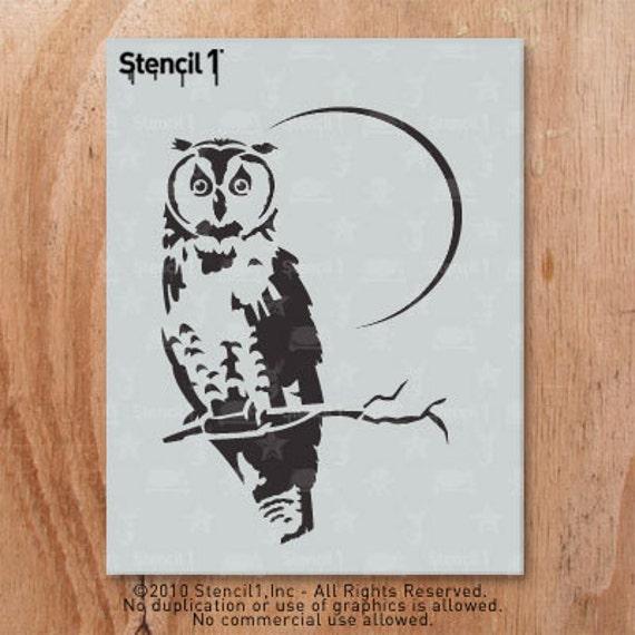 Owl Stencil Reusable Craft & DIY Stencils S1_01_56 8.5x11