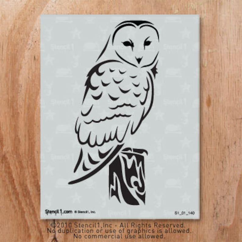Barn Owl Stencil Reusable Craft & DIY Stencils S1_01_140