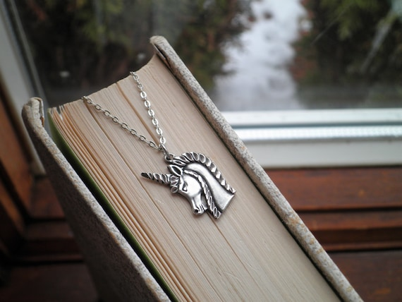 Sterling Silver Unicorn Charm Necklace - Vintage … - image 2