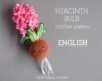 CROCHET PATTERN - ENGLISH - Hyacinth bulb - spring flower amigurumi