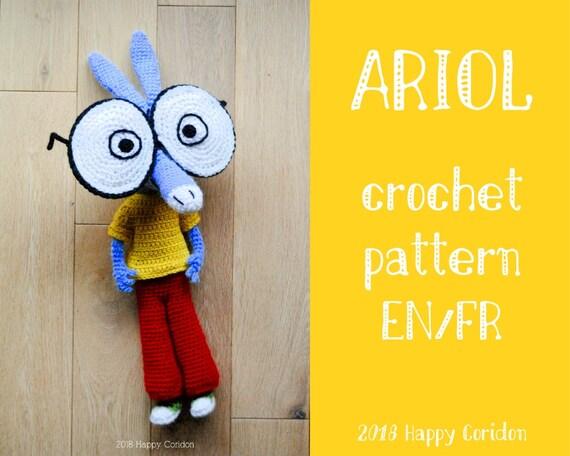 Crochet Pattern Ariol Geek Amigurumi Etsy