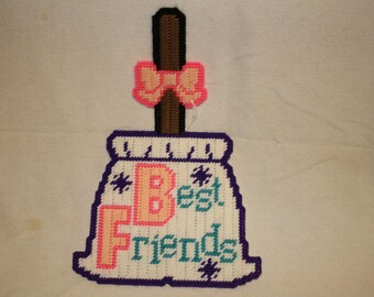 Best Friend broom wall hanging