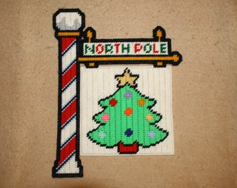 North pole tree flag wall hanging